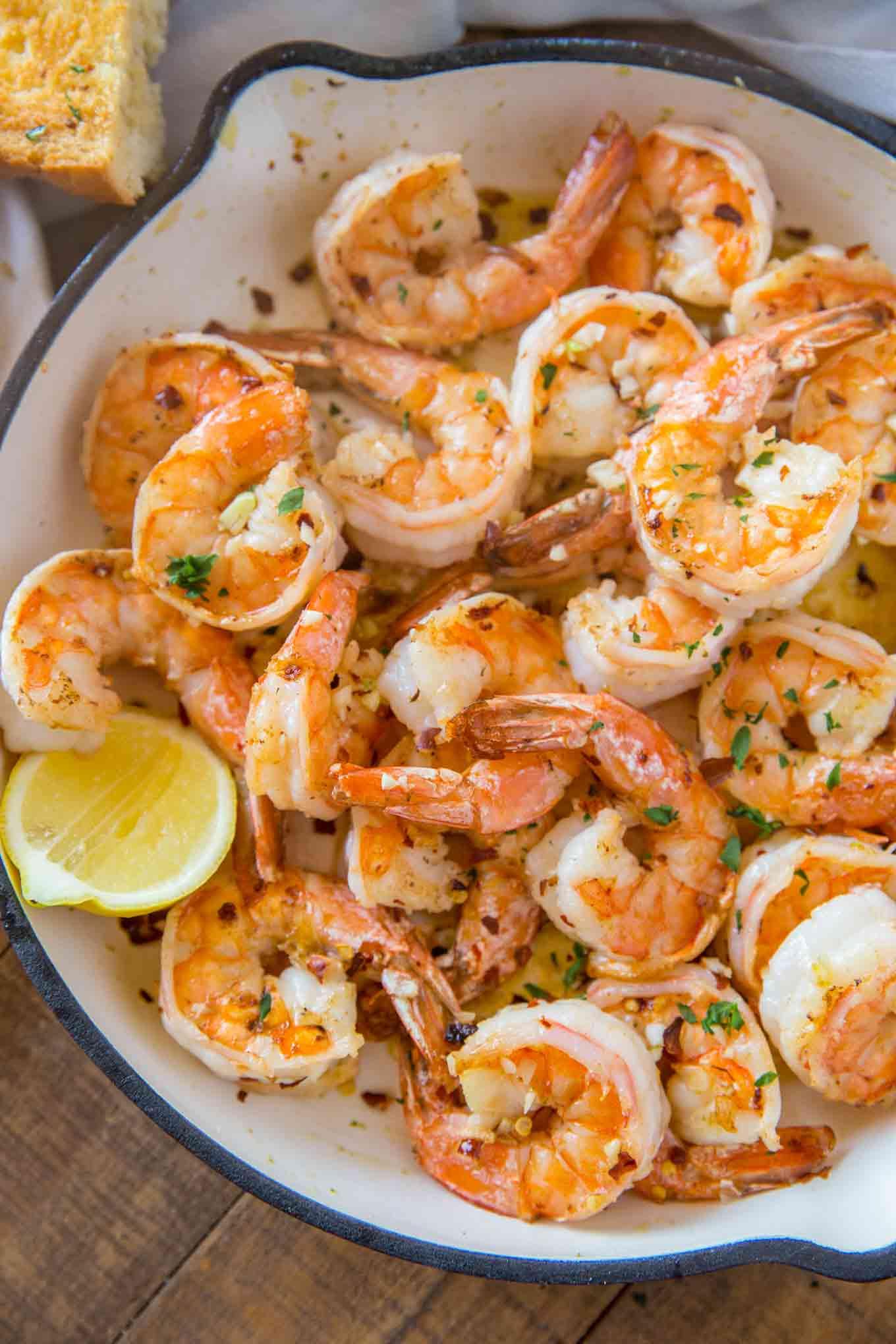 Shrimp Scampi in Pan